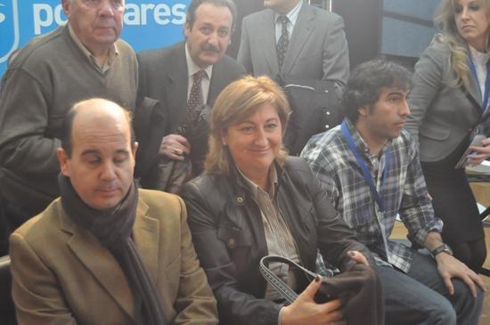 La presidenta provincial del PP en el acto de ayer