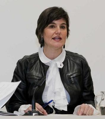 En la imagen, Elena Allué