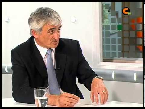 En la imagen, carlos Mor en una entrevista en la Television Local de Calamocha