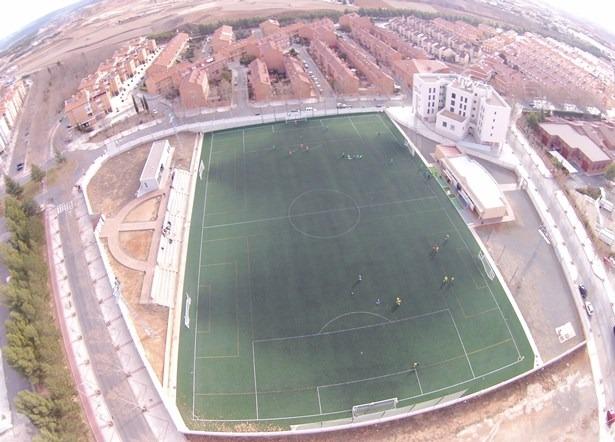 Vista aerea del Campo Luis Milla , tomada desde el DronEco
