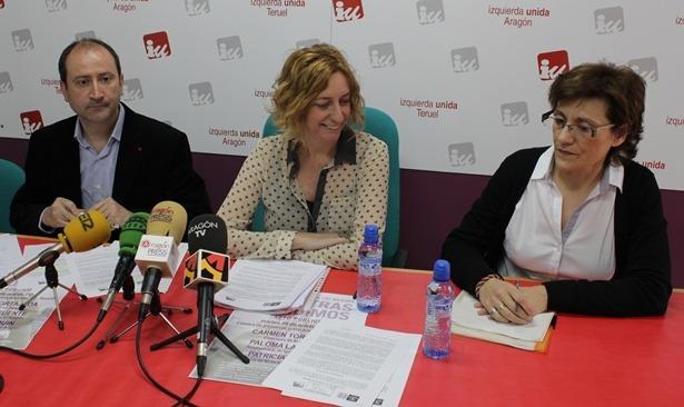 Romero, Luquín y Tortajada , ayer antes de iniciarse la rueda de prensa