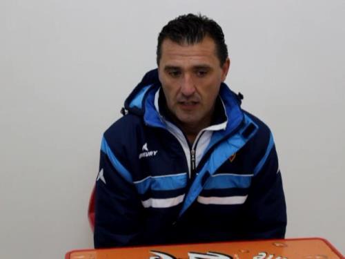 Una imagen de Emilio Larraz en la sala de prensa de la Ciudad Deportiva