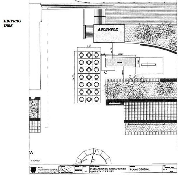 Plano de como será la instalación que figura en el pliego de Condiciones técnicas