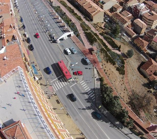 Vista aérea del paso de peatones donde se produjo el atropello