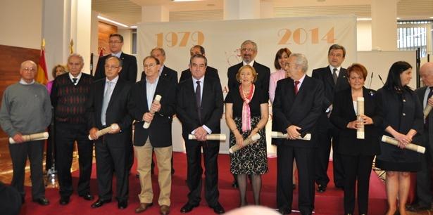 En la imagen, los concejales de la primera legislatura democratica