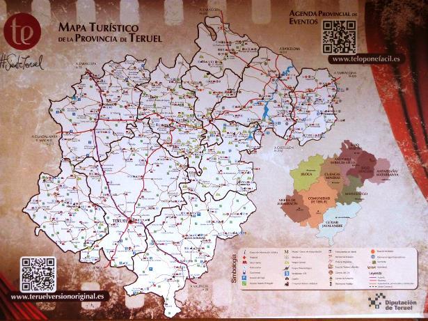 Mapa Provincia De Teruel.Turismo Diputacion Ha Puesto En Circulacion Esta Semana El
