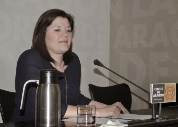 La diputada en Cortes de CHA, Carmen Martinez