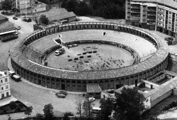 La actual plaza de toros de Teruel se inauguró hace 89 años, uno después de ser aprobada su construcción