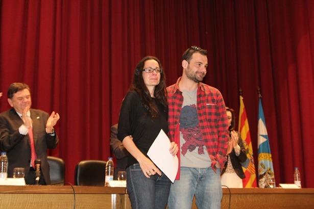 En la imagen, familiares de la profesora Amparo Sanchez, que recibió ayer el cálido homenaje de la Comunidad Universitaria