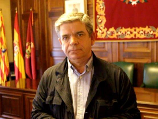 Hernando, esta mañana en el Ayuntamiento de Teruel