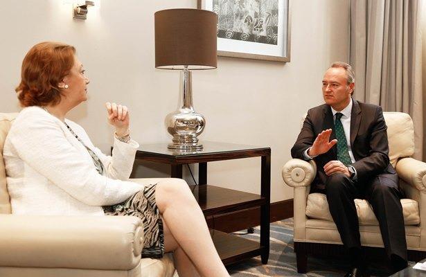 La presidenta Rudi y el presidente Fabra