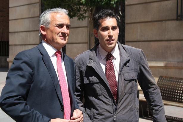 Carlos Mor, a la izquierda, con Ruben Lapuente