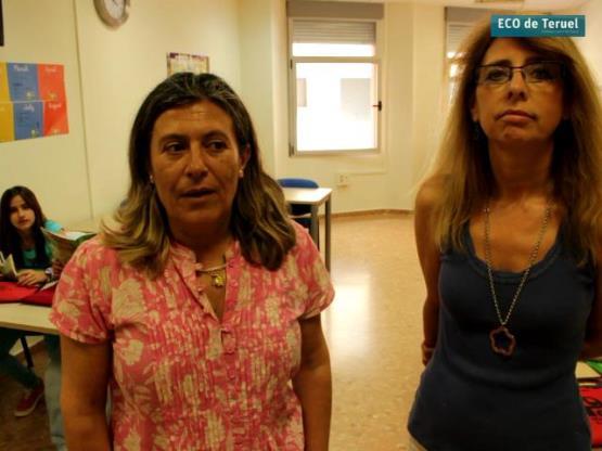 En la imagen , a la izquierda, Eena Lopez y a su lado Amparo Blasco