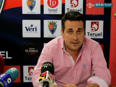 Una imagen del entrenador del Teruel, hace unos minutos en Pinilla