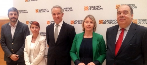 Cristina Gavín, Manuel Magdaleno, Roberto Fernández, Gerardo Oliván y Rocío Féliz de Vargas