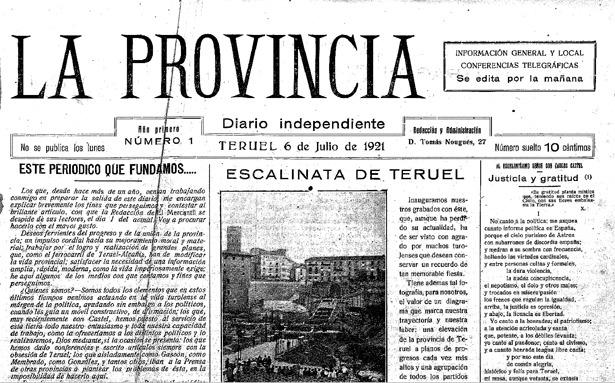 """Un día como hoy, corriendo el año 1921, debutó el diario """"La Provincia""""."""