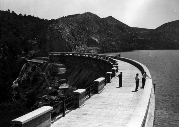 Un día como hoy de 1928 tenía lugar la inauguración del pantano de Gallipuén (Foto: López Segura, Instituto de Estudios Turolenses)