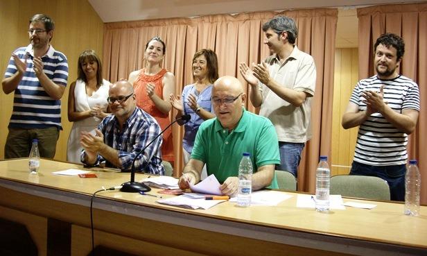 En la fotografía, de pie, los Delegados que asistirán al Congreso en Madrid (de izquierda a derecha): Ignacio Urquizu, Sonia Palacio, Romina Formento, Isabel Barberán, Francisco Báguena y Ramón López
