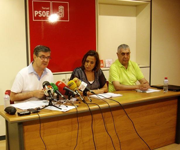 Guillén , Pérez y Arrufat , en la Rueda de prensa de esta mañana