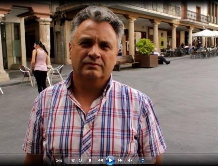 En la imagen José A.Sanchez, ex concejal del Ayuntamiento de Teruel y militante de base del PSOE
