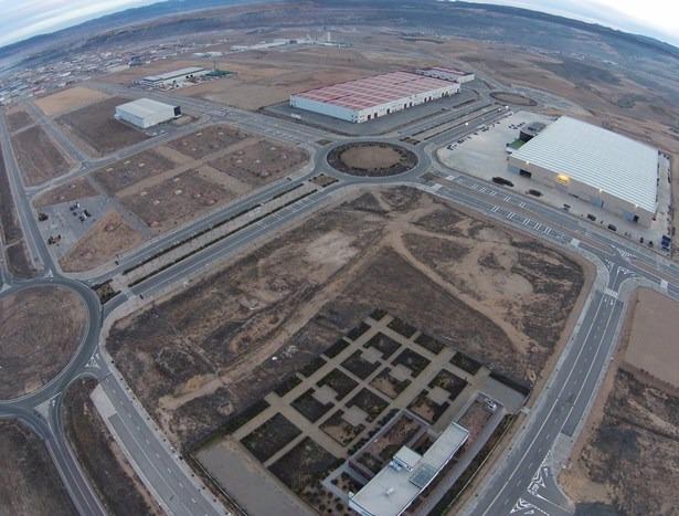 Una vista aérea del Polígono PLATEA, tomada desde el DronEco