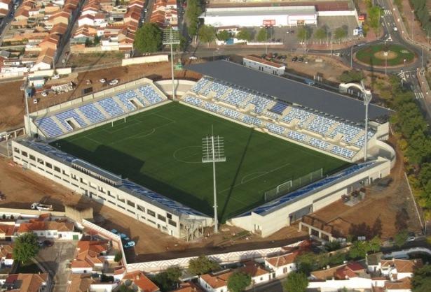 Una vista aérea del estadio Ciudad de Puertollano, inaugurado en 2010