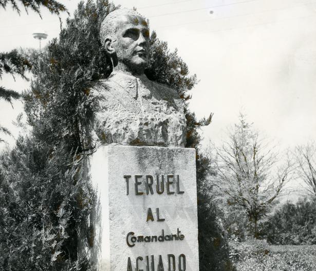 """Teruel dedicó un parque al comandante Virgilio Aguado, muerto en la """"batalla de Sarrión"""" un día como hoy."""
