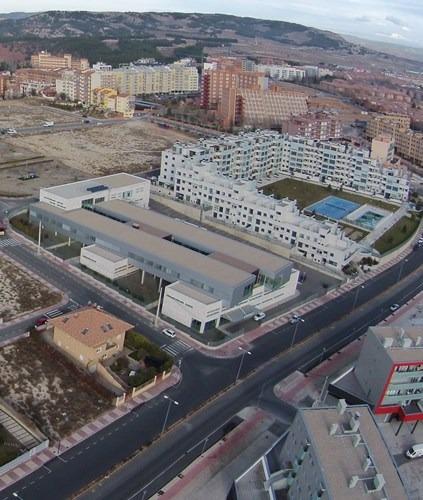 En la imagen, el Centro de Salud del Ensanche en Teruel