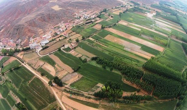 Los campos anegados de Villaspesa, vistos desde el DronEco esta mañana