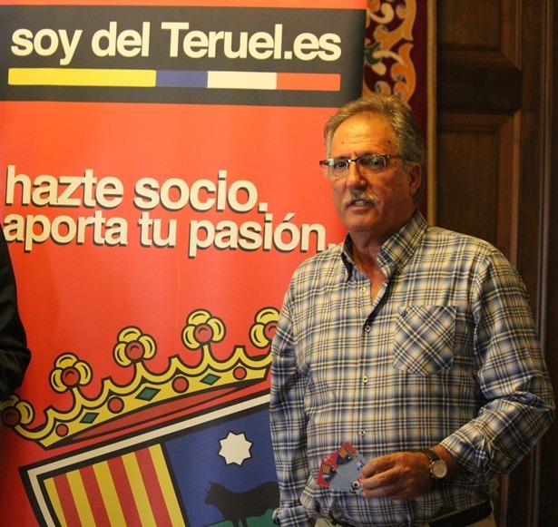 En la imagen, Ramón Navarro, actual Presidente del CD Teruel