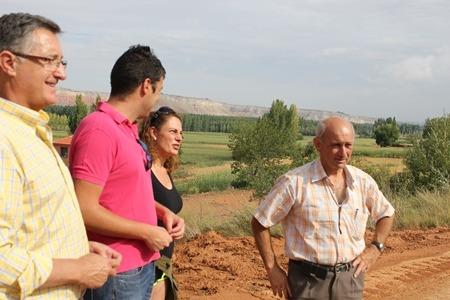 En la imagen, de izquierda a derecha, Blasco, Domingo, Navarro y Pascual, esta mañana en Villaspesa