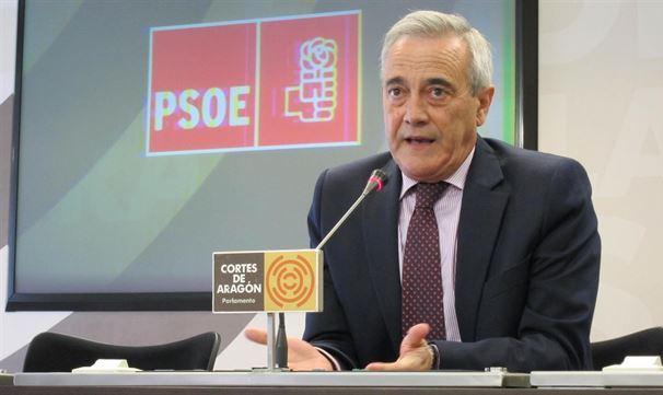 En la imagen, Javier Sada portavoz del PSOE en las Cortes de Aragón