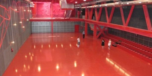 La pista central deportiva del Centro de Domingo Gascón