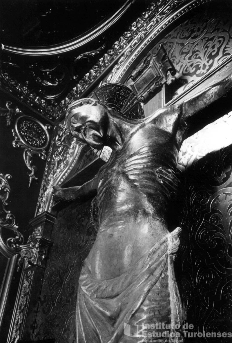 Una imagen del Cristo del Salvador.La foto es del Archivo Lopez Segura , del Instituto de Estudios Turolenses
