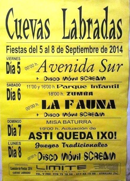 CUEVAS LABRADAS 05-08 SEPTIEMBRE 2014