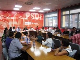 Una imagen de la ejecutiva regional del PSOE