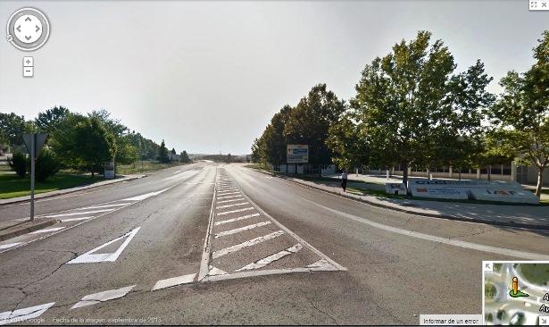 Vista de la zona donde se ubicará el nuevo paso de peatones