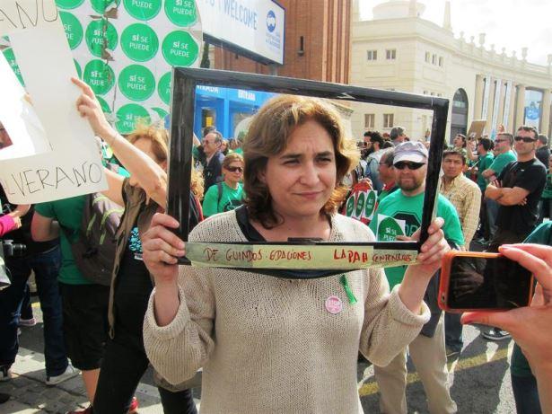 Ada Colau, una de las principales impulsoras del fenómeno Ganemos
