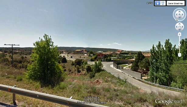 Una vista de la zona de chalets de la Hipica , en la carretera de Valencia(Foto Google Earth)