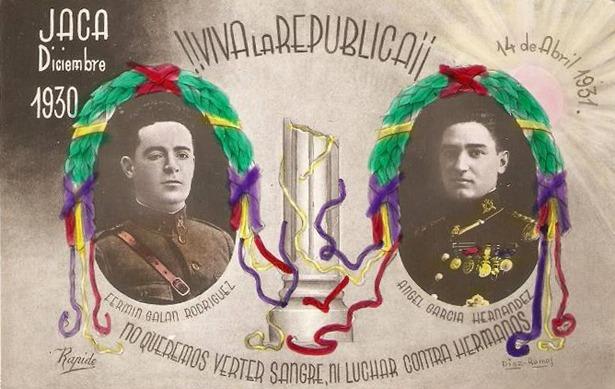 Durante un tiempo, el paseo del Óvalo estuvo dedicado a los militares capitanes Galán y García Hernández, héroes republicanos que protagonizaron una sublevación en Jaca.