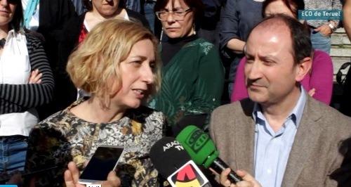 Patricia Luquín y Luis A. Romero, en la presentación de la candidatura