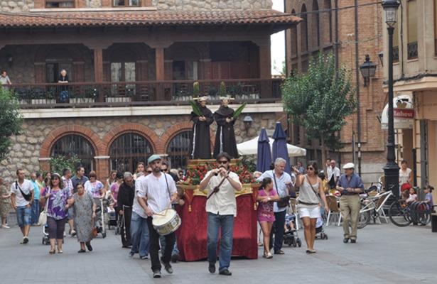 Procesión de los copatronos de Teruel, de cuyo martirio se cumplen 787 años.