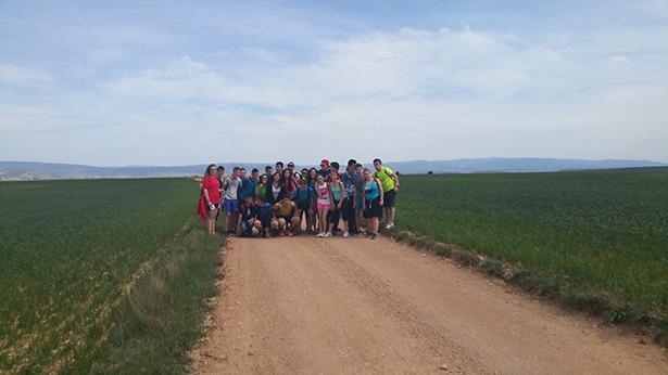 Los alumnos de 3º ESO de La Salle en la marcha senderista que realizaron los días 4 y 5 de mayo