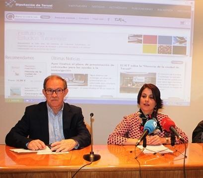 Enma Buj, Diputada delegada y Juan Felix Royo, Director del IET