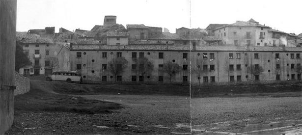 Un día como hoy se hizo pública la próxima construcción de un bloque de viviendas en Montalbán (Foto: Documentos y Archivos de Aragón).