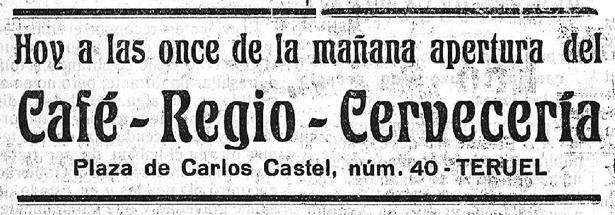 Hace 92 años debutaba una nueva cafetería en la plaza del Torico