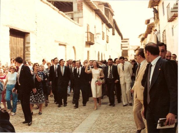 """Hace 32 años, la reina Sofía se desplazó a Mirambel donde hizo entrega del premio """"Europa Nostra"""" (Foto: www.mirambel.es)."""