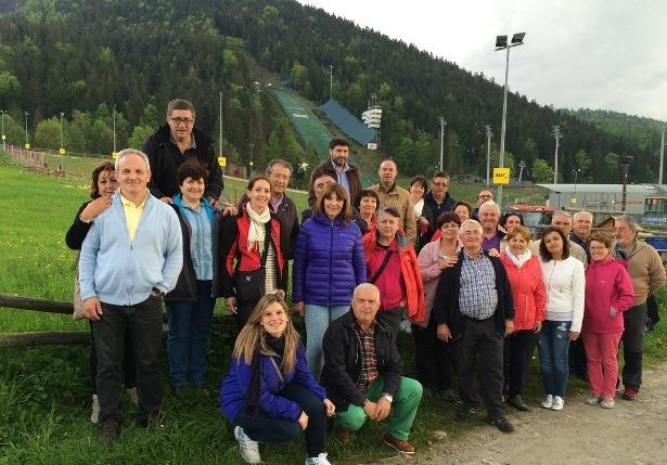 Empresarios de Gúdar Javalambre en la Estación de Esquí de Zakopane