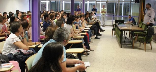Imagen de la reunión del AMPA de Las Anejas celebrada el pasado jueves