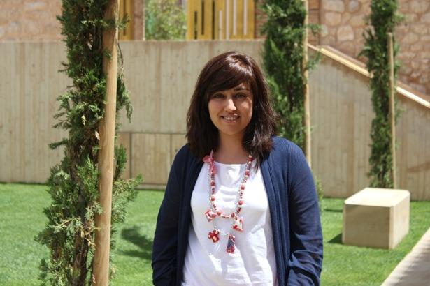 Patricia Garcia, de la Fundación Amantes, esta mañana en el jardín de San Pedro